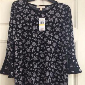 Michael Kors Tops - Michael Kors Floral print trumpet sleeve blouse